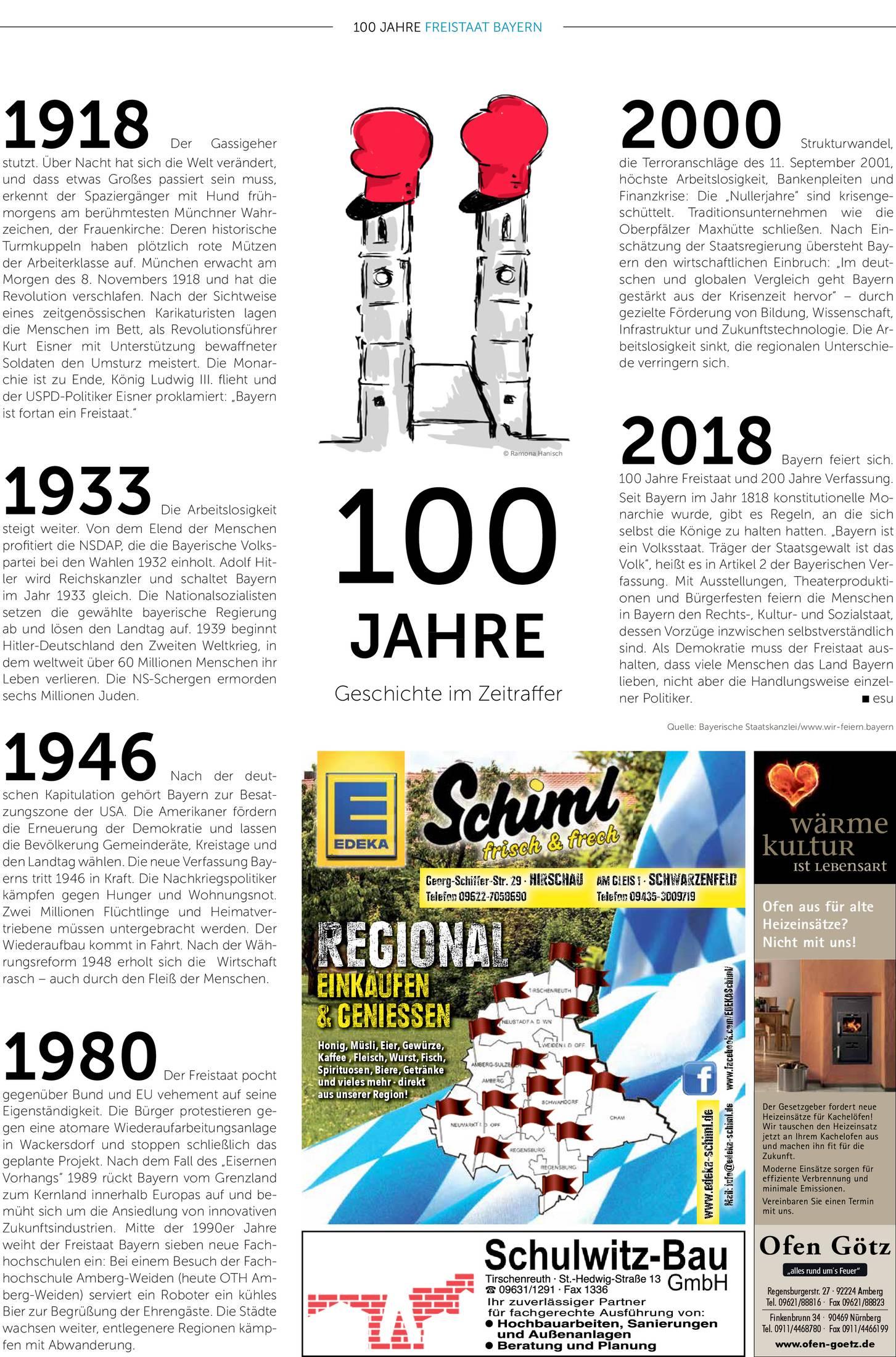Bayern Feiern 100 Jahre Freistaat Onetz