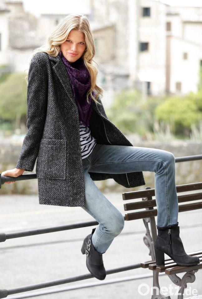 aus Mantel the 'Harris Tweed' Modisch femininer dCoxerB