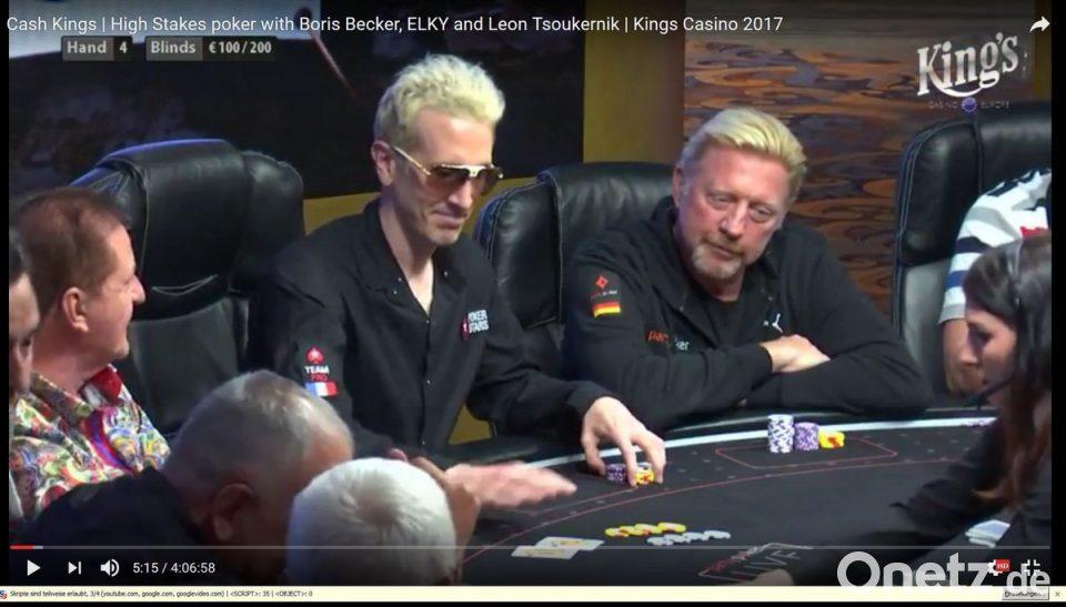 Boris Becker am Pokertisch in Rozvadov | Onetz