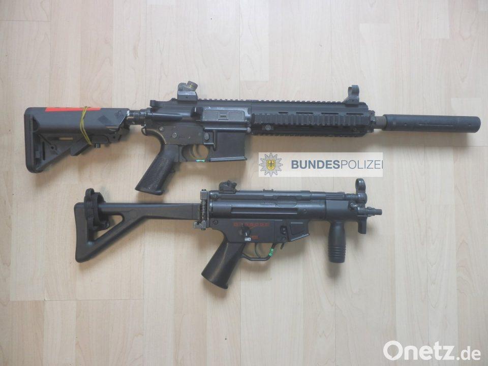 Bundespolizei stellt in Pleystein Softair-Waffen sicher | Onetz