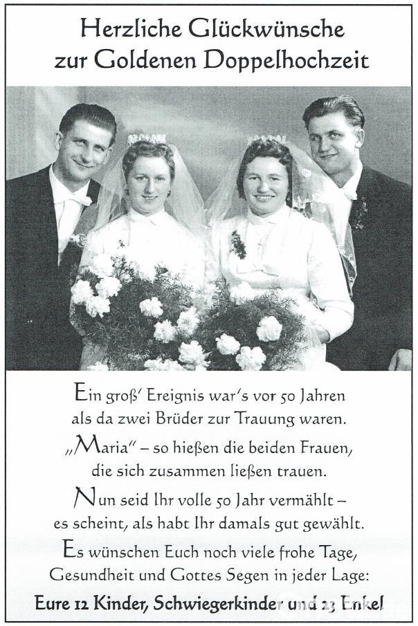 Vor 60 Jahren Vom Vater Getraut Onetz