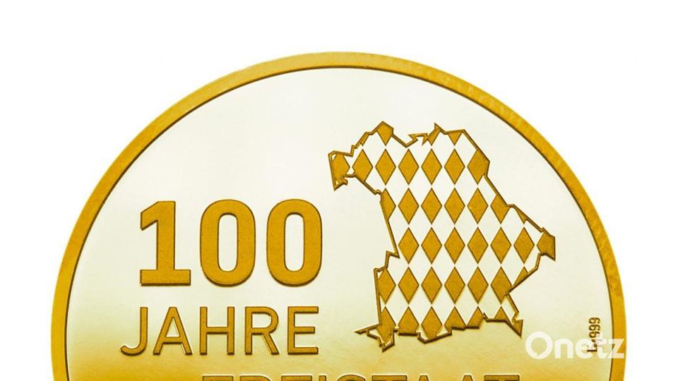Goldmedaille 100 Jahre Freistaat Bayern Onetz