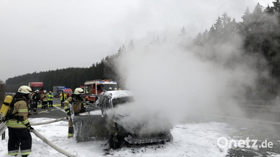 Autobrand auf der A6: Perfekte Ersthelfer