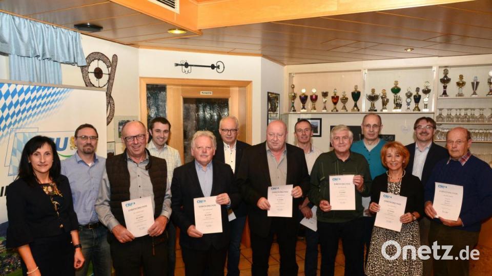 CSU-Parkstein zeichnete langjährige Mitglieder aus - Onetz.de