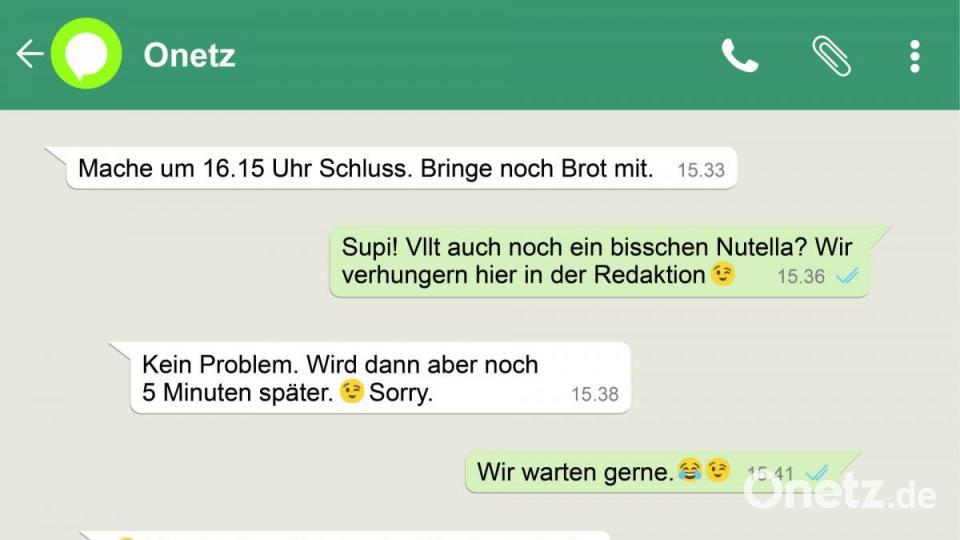Whatsapp Irrlaufer Nutella Und Ich Liebe Dich Onetz