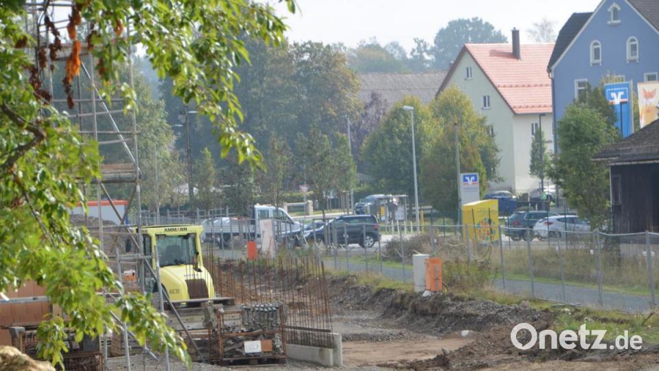 Netto Markt in Vohenstrauß auf Fels gebaut